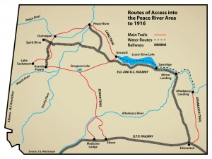 The Long Trail - Routes of Access ino the Peace River Area to 1916