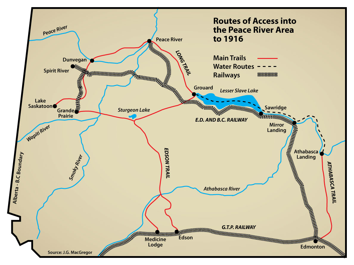 The Long Trail – Routes of Access ino the Peace River Area ...