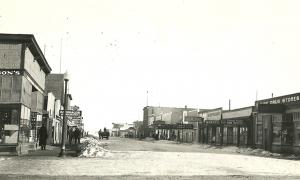 Grande Prairie main street 1935