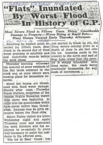 Grande Prairie Herald flood article 1935